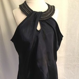 NWT Ashley Stewart navy blouse